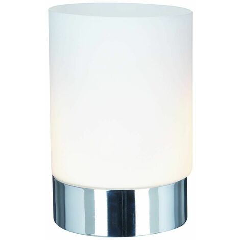 Touch Lamps table lamp 15 cm, in chrome and opal glass