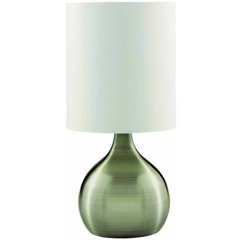 Touch Lamps table lamp 29 cm, in antique brass, white lampshade