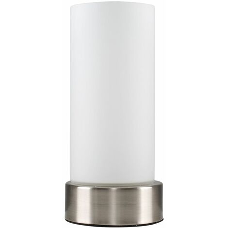 Touch Table Lamps Dimmer Brushed Chrome Bedside Lounge Lights