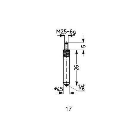 Touche de mesure carbure type 17/26,0mm KÄFER 1 PCS