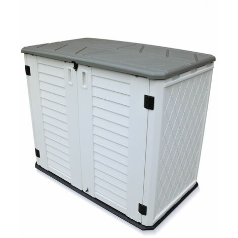 """main image of """"TOUGH MASTER 730L Garden Storage Shed Plastic Outdoor Waterproof for Garden Tools, Toys"""""""