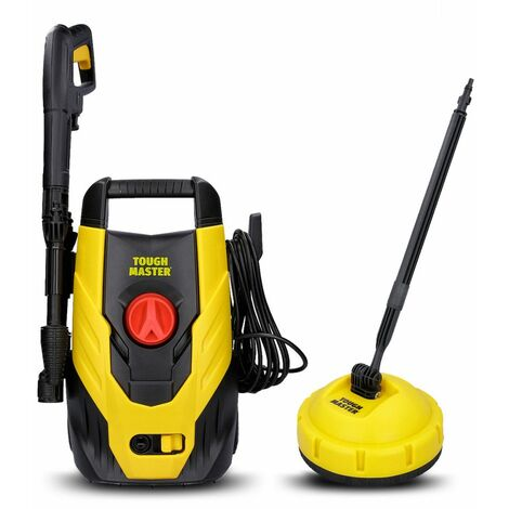 Tough Master Electric Pressure Washer 110 Bar For Car Wash With Patio Cleaner