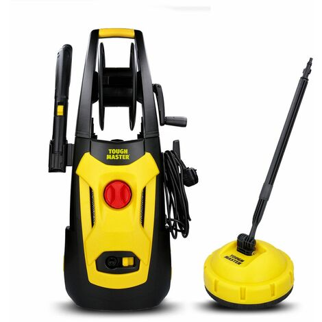 Tough Master Electric Pressure Washer 140 Bar For Car Wash With Patio Cleaner