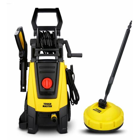 Tough Master Electric Pressure Washer 160 Bar For Car Wash With Patio Cleaner
