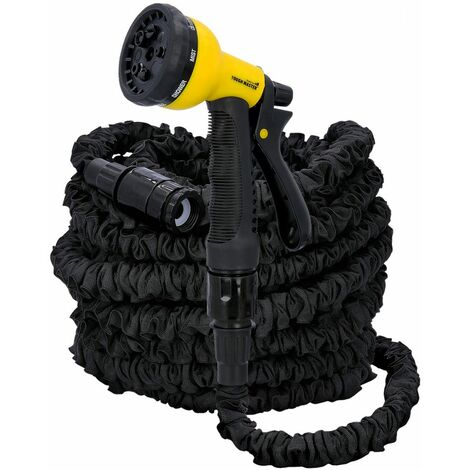 """main image of """"TOUGH MASTER Expanding Garden Hose Pipe Flexible 8 Function Spray Gun Expandable Accessories Stretch 100FT"""""""