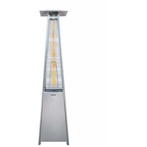 TOUGH MASTER Pyramid Patio Gas Heater 13KW Freestanding Stainless Steel Outdoor Warmer