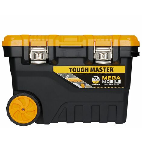 Tough Master Tool Chest/Box Professional Mobile 28 Inch / 72cm on Wheels With Tote Tray