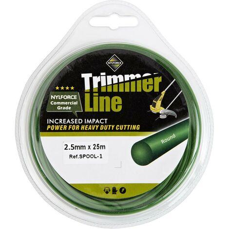 Tough Nylon 2.5mm 25m Trimmer Spool Line Wire by Trueshopping