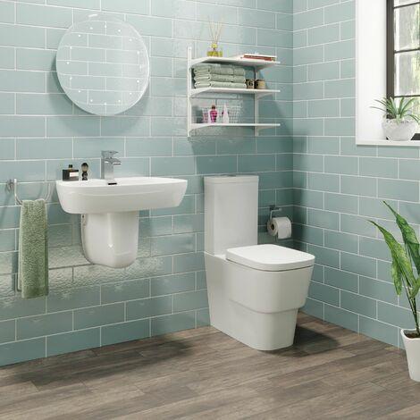 Toulon Cloakroom Suite with Semi Pedestal