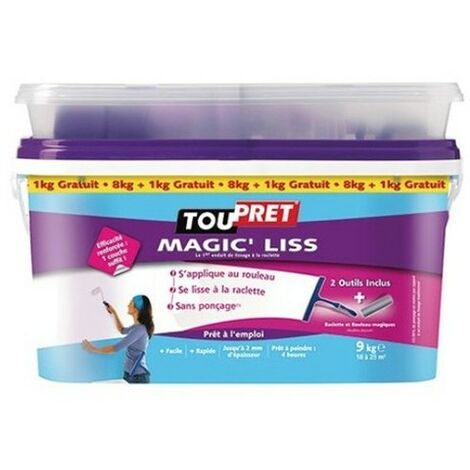 TOUPRET Enduit à Lisser MAGIC'LISS 8kgs + 1kg gratuit -