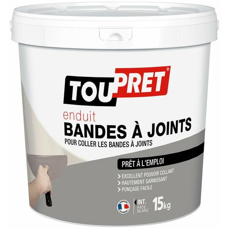 Toupret enduit bande à joint pâte 15 kg