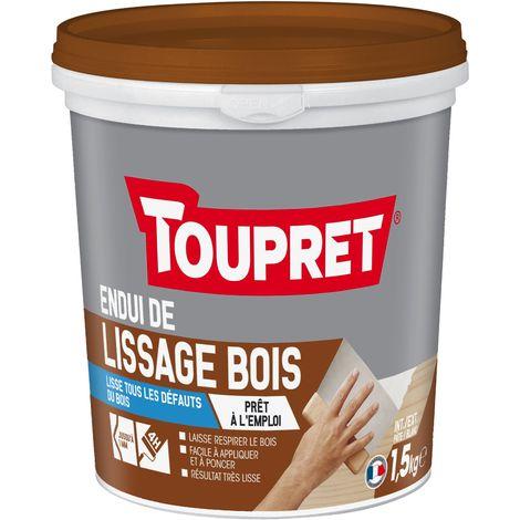 Toupret Enduit de lissage bois pot 1,5 kg