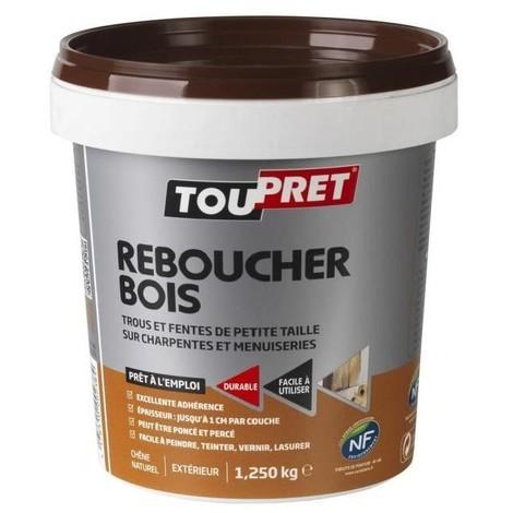 TOUPRET - Enduit de rebouchage bois - 1.25 Kg - pâte