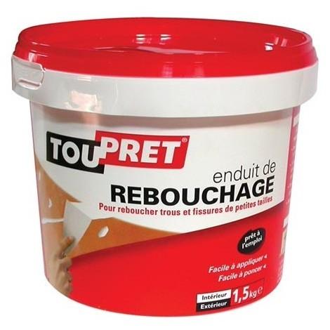 TOUPRET - Enduit de rebouchage - pâte - 1.5 Kg