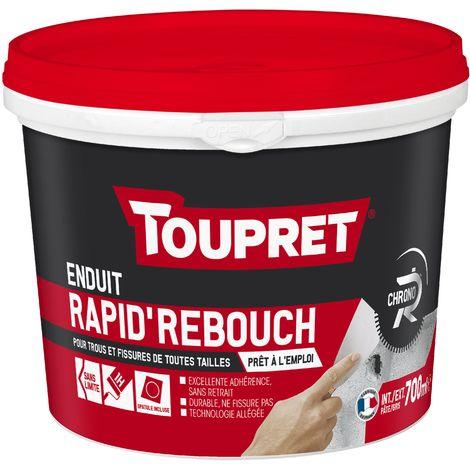 Toupret Enduit de rebouchage Rapid'Rebouch en pâte allégé 700 ml