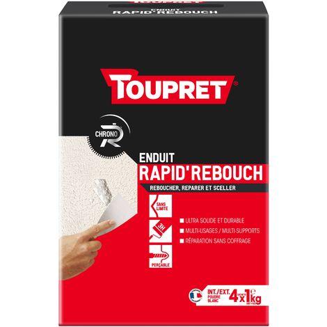 Toupret Enduit de rebouchage Rapid'Rebouch en poudre EN 4 kg