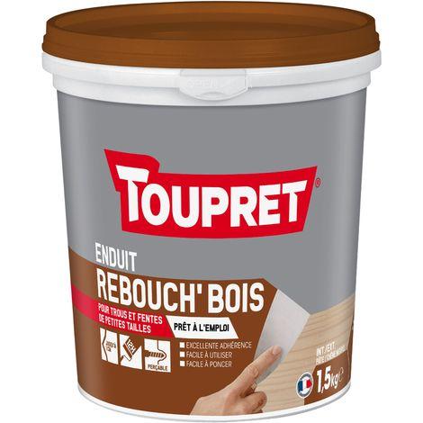 Toupret Enduit de rebouchage Rebouch'Bois en pâte pot de 1,5 kg