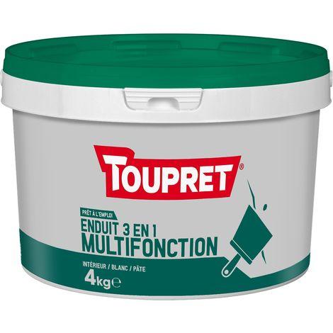 Toupret Enduit multifonction 3 en 1 pâte 4 kg