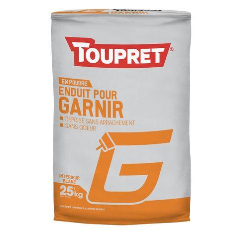 Toupret Enduit pour garnir G poudre 25 kg