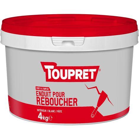 Toupret Enduit pour reboucher pâte pot 4 kg