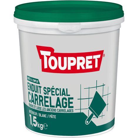 Toupret Enduit spécial carrelage pâte pot 1,5 kg
