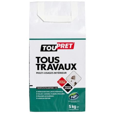 TOUPRET Enduit Tous Travaux en poudre 5 kg