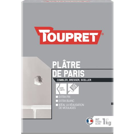 Toupret Plâtre de Paris en sac de 1kg