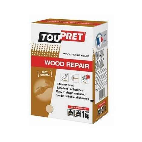 Toupret REPBO01GB Fast Drying Wood Repair 1kg