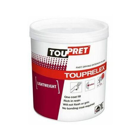 Toupret TLX01GB TOUPRELEX® Exterior Fast Drying Lightweight Filler 1kg