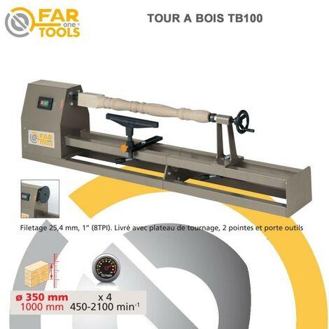 """main image of """"Tour à Bois 400 W, Capacités maxi d'usinage 1000 mm - Fartools TB100"""""""