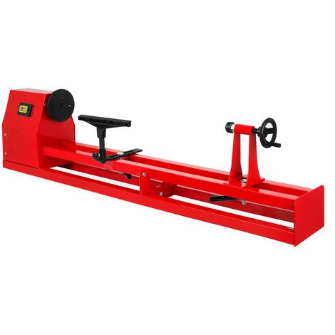 Tour à bois (400 watts Moteur électrique, 4 Vitesses de rotation, 350 mm Diamètre max, 1000 mm Longueur)