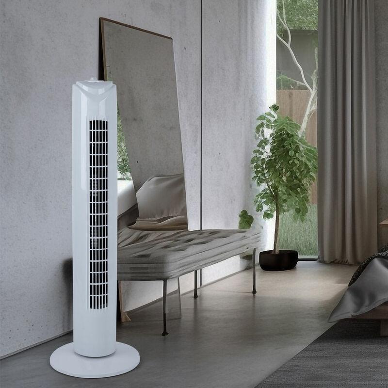 Tour ventilateur, blanc, hauteur 81 cm 0453