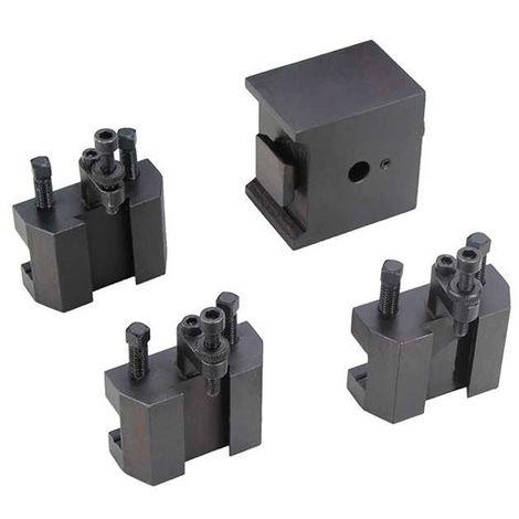 Tourelle changement rapide + 3 portes outils pour tours métaux TP 550 - 21398117 - Sidamo - -