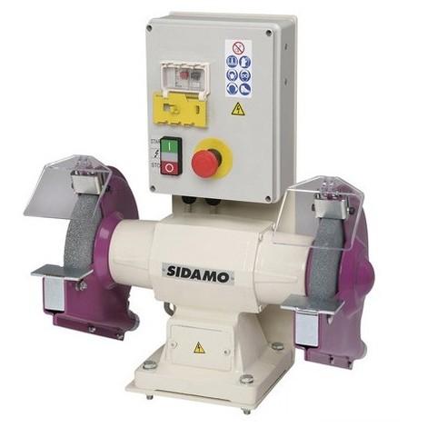 Touret à meuler avec frein 126 FR D. 200 mm - 400V 750W - 20113034 - Sidamo - -