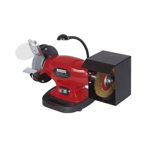 Touret à meuler PRO 450W meule 150 MM - brosse - eclairage