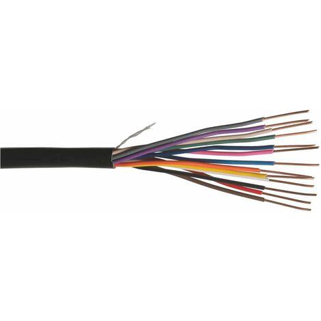Touret câble 7 conducteurs pour télécommande d'électrovannes très basse tension - 15m