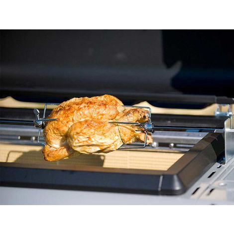 Tourne broche universel extensible pour barbecue