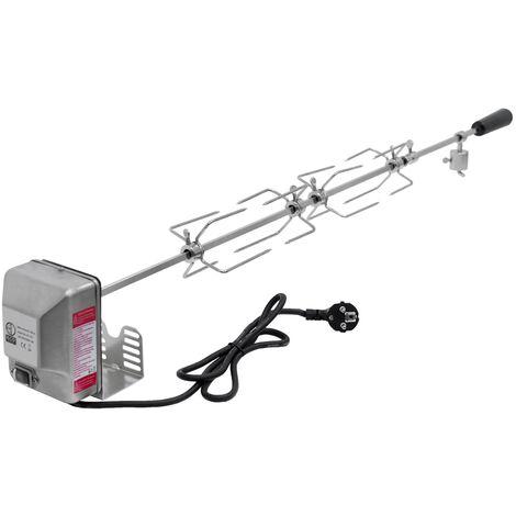 Tournebroche électrique brochette de rôtissoire avec moteur 4W 230V 100cm