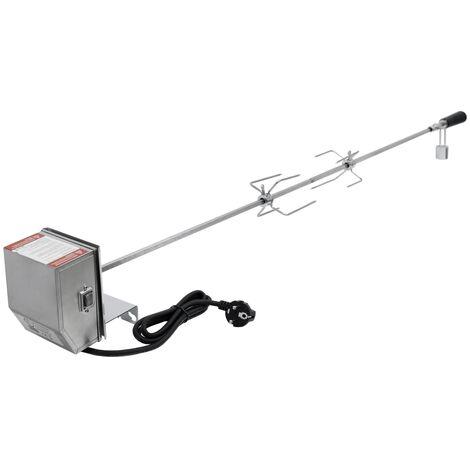 Tournebroche électrique brochette de rôtissoire avec moteur 4W 230V 120cm