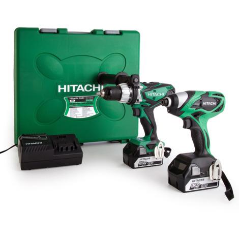 Visseuse /à Chocs 2 x 18 V 5 Ah Hitachi KC18DKL Perceuse /à Percussion