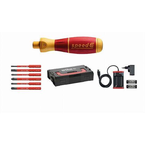 Tournevis automatique WIHA SpeedE - Set n°1 en coffret avec accessoires - 41911
