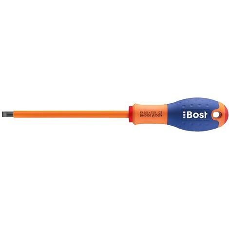 Tournevis BOST électricien - Lame plate Expert isolé 1000V - 2,5 X 50 mm - 626000