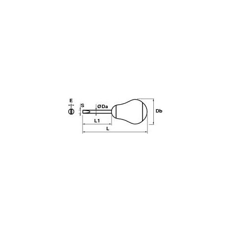 TOURNEVIS BOULE ELECTRICIEN 4,0*38*0,8 MOB - 9120010001 - -