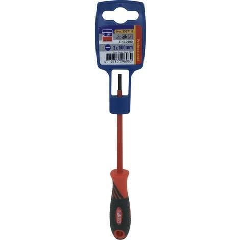 Tournevis électricien plat 1000V - 3x72mm - 35671H