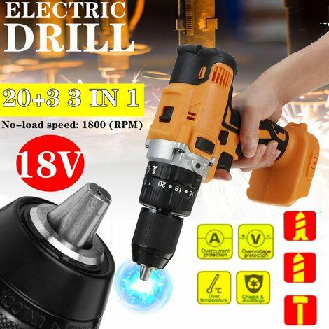 Tournevis électrique 18V 2 vitesse rechargeable 13mm pour outils électriques Makita Convient pour batterie Makita 18V (non incluse)