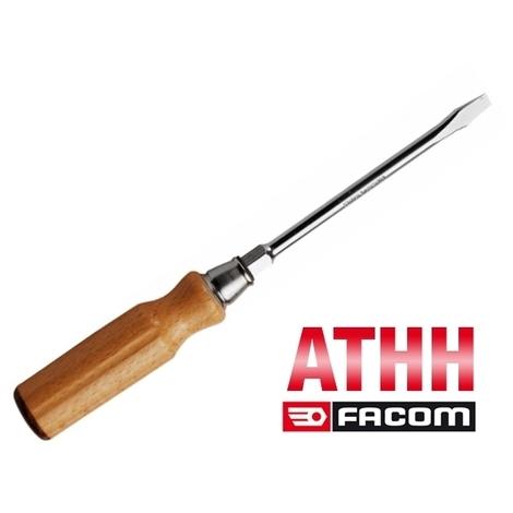 Tournevis manche bois pour vis à fente ATHH Facom (8 x 150 mm)