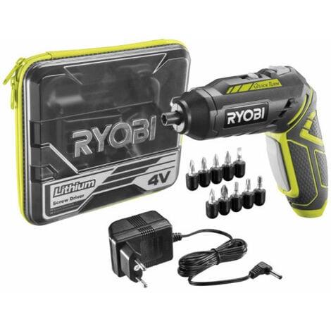 Tournevis sans fil RYOBI 4V 1.3Ah - 2 vitesses 5 accessoires R4SDP-L13T