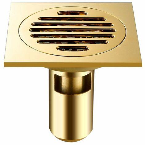 Tous les drains de plancher de cuivre drains Siphon De Sol En Épais Drain De Douche Carré Anti-odeur Pour Salle De Bain 100*100mm