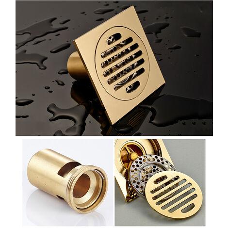 Tous les drains de plancher de cuivre drains Siphon De Sol En Épais Drain ,De Douche Carré Anti-odeur Pour Salle De Bain 100*100mm