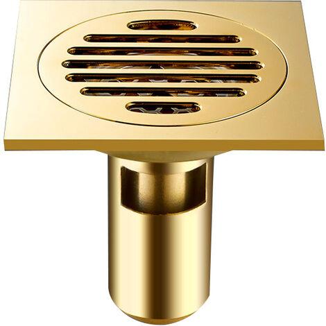Tous les drains de plancher de cuivre drains Siphon De Sol En Épais Drain De Douche Carré Anti-odeur Pour Salle De Bain 100*100mm.
